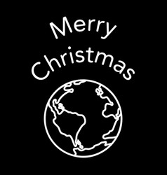 merry christmas planet vector image