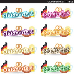Oktoberfest titles vector image vector image
