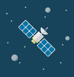 satellite icon in flat style vector image vector image