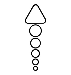 Send arrow up outline icon vector