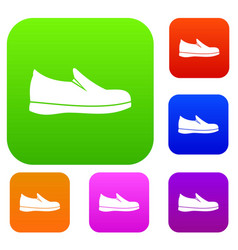 shoes set collection vector image vector image