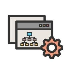 Sitemap settings vector