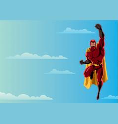 superhero flying 2 sky vector image vector image