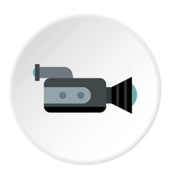 Video camcorder icon flat style vector