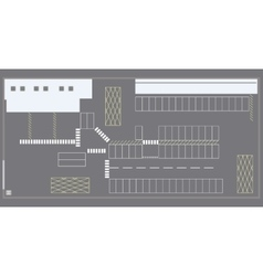 Warehouse logistic center vector