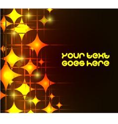 Modern background with neon orange stars eps10 vector image