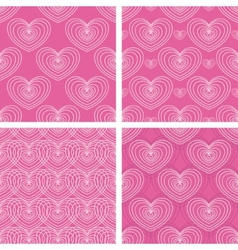 Patterns with hearts vector