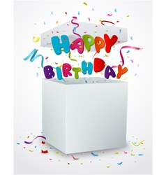Birthday message box with confetti vector