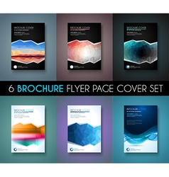 Set ofBrochure templates Flyer Designs or Depliant vector image
