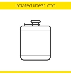 Hip flask icon vector