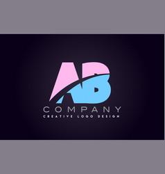 Ab alphabet letter join joined letter logo design vector