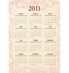 American pink calendar 2011 vector image vector image