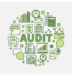 Audit round vector image