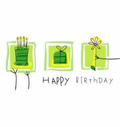 Birthday gifts vector