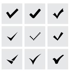 Black confirm icon set vector