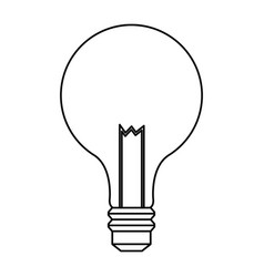 Bulb light electric innovation science line vector