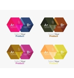 Business geometric layouts with option text vector