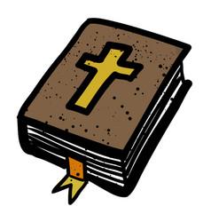 Cartoon image of bible icon religion symbol vector
