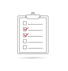 check list white vector image vector image