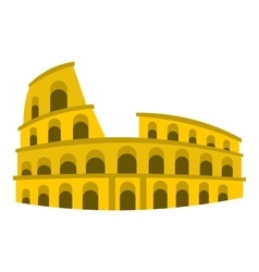 Coliseum icon flat style vector image