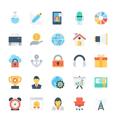 Design and development colored icons 3 vector