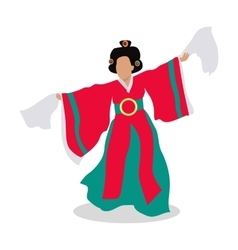 Eastern dancer isolated folk dance concept vector