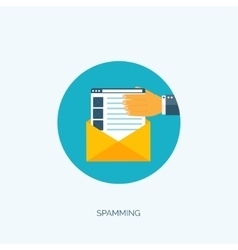 Flat spamming background vector