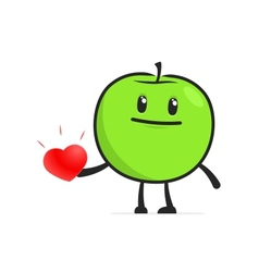 funny cartoon apple vector image vector image