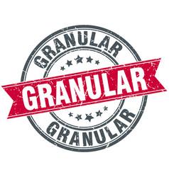 Granular round grunge ribbon stamp vector