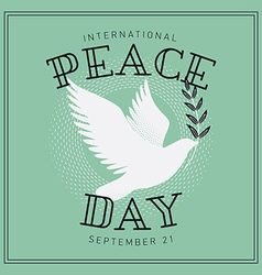 International Peace Day Poster vector image