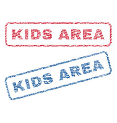 Kids area textile stamps vector