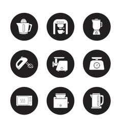 Kitchen electronics icons set vector