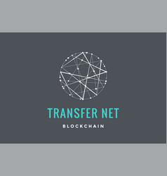 Logo for blockchain technology vector