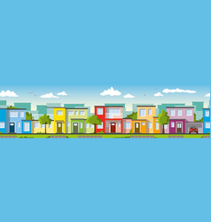 modern colorful houses vector image vector image