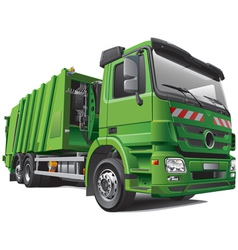 modern garbage truck vector image vector image