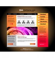 modern website vector image
