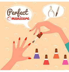 Perfect manicure Beauty concept Gift certificate G vector image