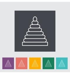 Pyramid toy vector image