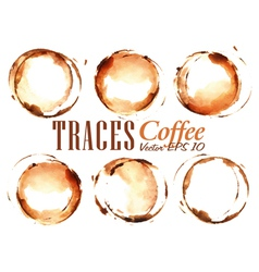 Set Traces Coffee vector image vector image