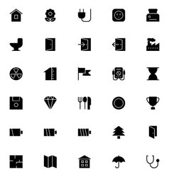 Universal mobile line icons 9 vector