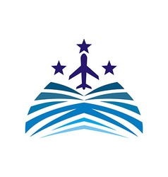 Vacation travel plane logo icon vector