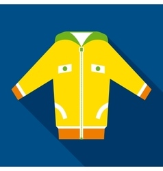 Yellow jacket in flat style vector