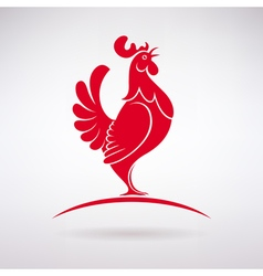 Rooster Crows vector image