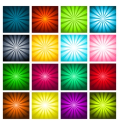 Colorful bursting backgrounds vector