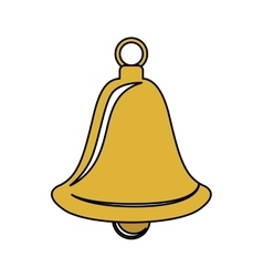 Bell of christmas season design vector