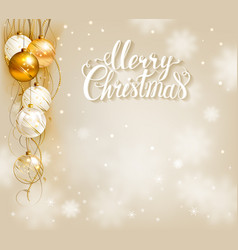 Elegant christmas background with gold and white vector