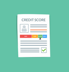 credit score document concept personal vector image