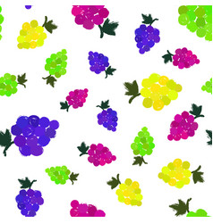 Grapes background painted pattern vector