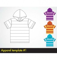 Hoody template vector