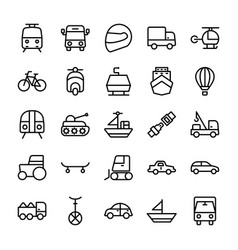 Automobile line icons 1 vector